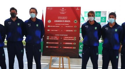 Orlando Luz faz a estreia do Brasil contra o Líbano na Copa Davis neste s ...