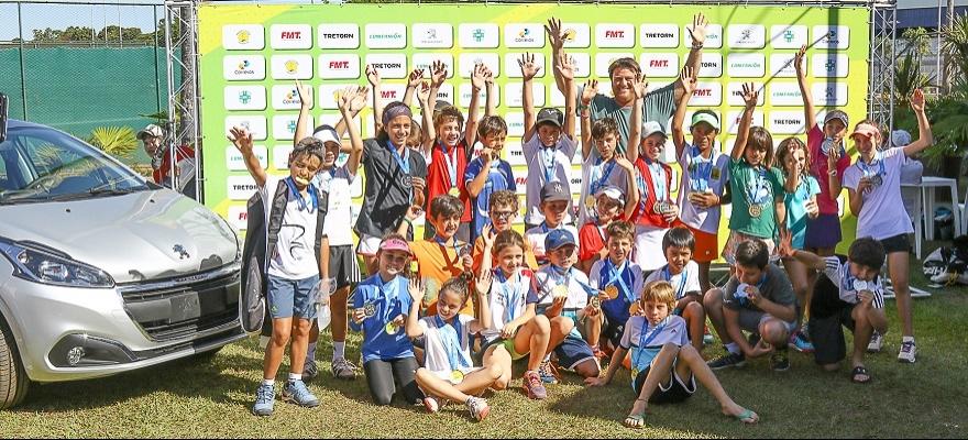 Definidos os campeões do Tennis Kids no Brasileirão em Uberlândia