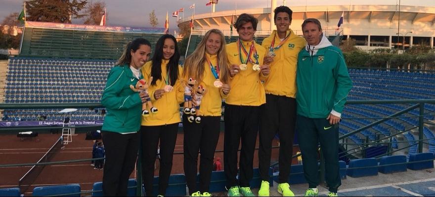 Thiago Wild ganha a medalha de ouro nos Jogos Sul-Americanos da Juventude