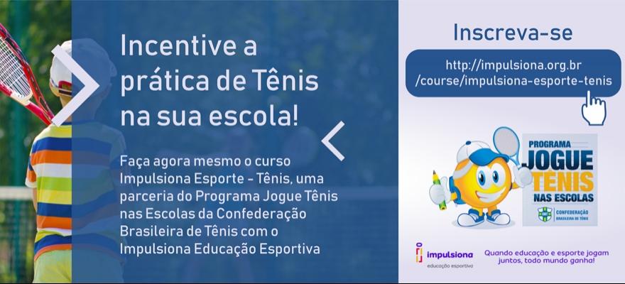 Jogue Tênis nas Escolas vira parceiro do Impulsiona Educação Esportiva