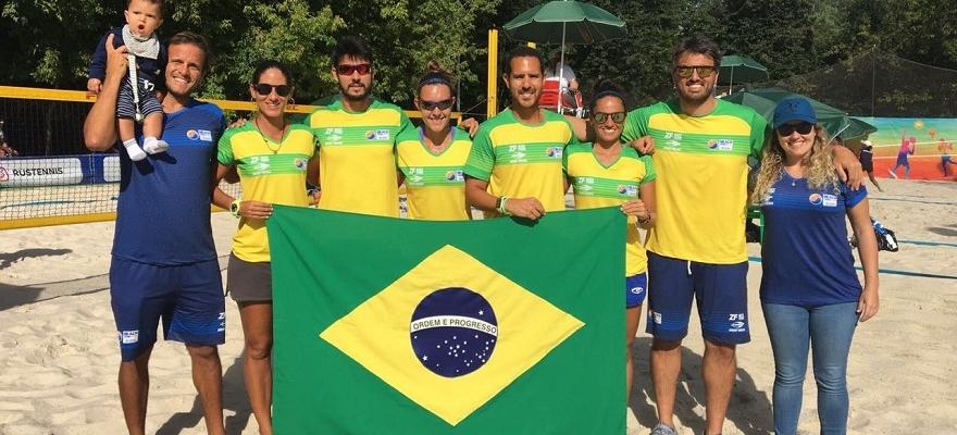 Brasil estreia com grande vitória no Mundial por equipes de Beach Tennis