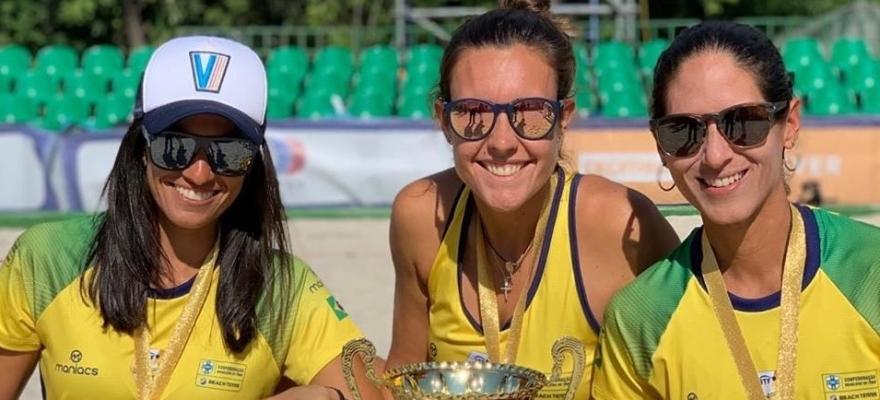 Brasil tem três atletas no Top 10 do Beach Tennis mundial