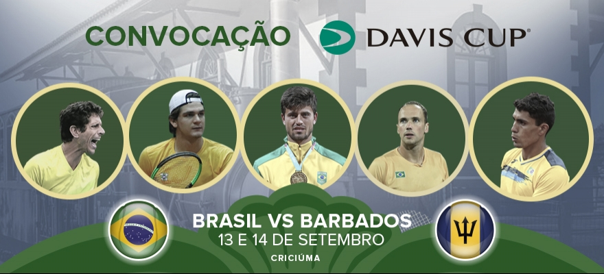 Jaime Oncins convoca Time Brasil para confronto contra Barbados na Davis