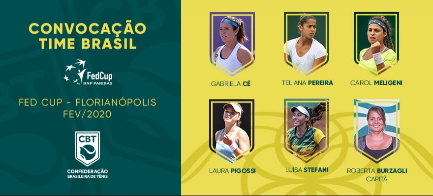 Time Brasil está definido para duelo contra a Alemanha pela Fed Cup